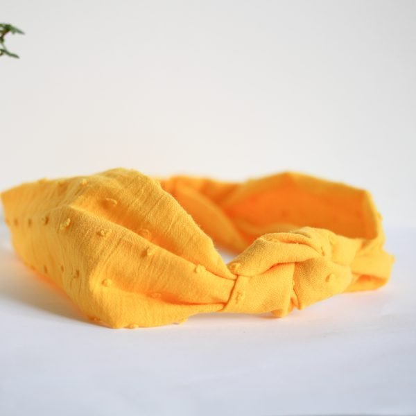 Yellow Knotted Fabric Headband