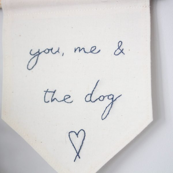 you me and the dog banner close up